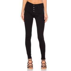 AG Farrah Skinny Button Up High Rise Skinny Jeans